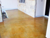 stained concrete patio example of austin work