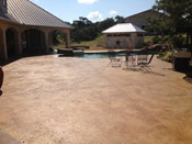 stained concrete pool deck austin