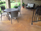 stained concrete patio austin