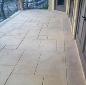 stamped concrete porch patio austin contractor example