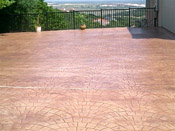 stained and stamped concrete patio austin