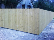 Traditional privacy fence in austin