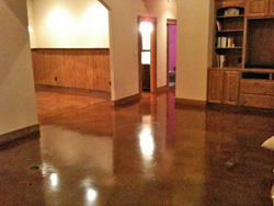stained concrete floor in austin